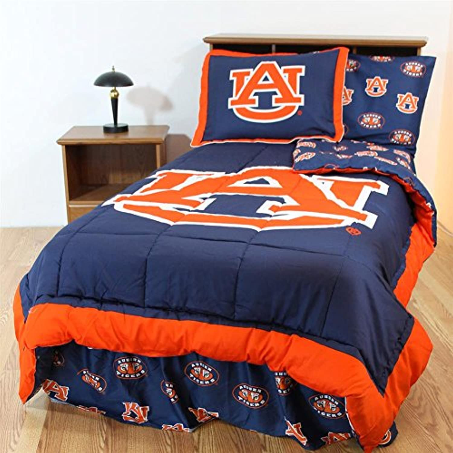Comfy Feet AUBBBQU Auburn Bed in a Bag Queen - With Team Colored Sheets
