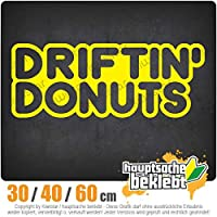 Driftin 'donuts - 3つのサイズで利用できます 15色 - ネオン+クロム! ステッカービニールオートバイ