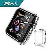 Dalinch Apple Watch 40mm ケース Apple Watch ケース 二個セット 衝撃防止 本体保護 装着簡単 水防止 TPU周り保護ケース For Apple Watch Series 4 (2枚)