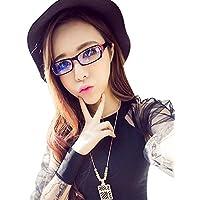 パソコンメガネ ブルーライトカット 度なし 伊達眼鏡 おしゃれ 男女兼用 花粉用メガネ PCメガネ 目の疲れを減軽する サングラス PC用 ダテメガネ ブルーライト/青色光カット UVカット 放射線を防ぐ 目を守る 眼鏡ケース付き