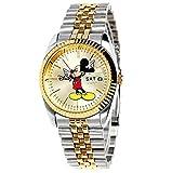 [ディズニー] ミッキーマウス 時計ゴールドシルバー混合 男女共用 韓国芸能人時計OW016DY Disney Mickey Mouse Unisex Watch Gold and Silver Color [海外直送品]