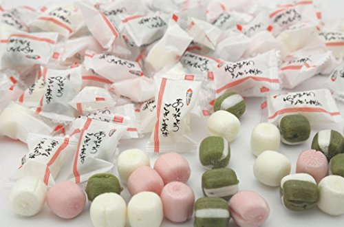 メッセージ入り「ありがとう」キャンディー 抹茶ミルク・ミルク・苺みるく 1kgパック