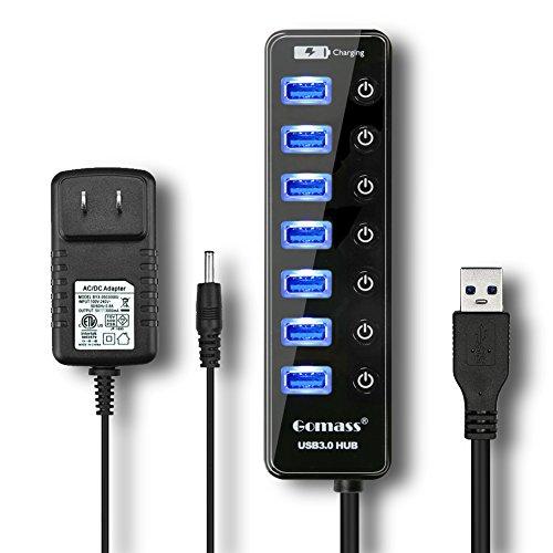 Gomass USB ハブ 3.0 2.0対応 7ポート+ ...