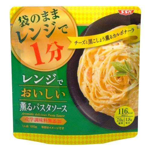 SSK レンジで美味しい 薫るパスタソース チーズと黒こしょう香るカルボナーラ 1人前(120g)(スパゲティソース)(レトルト食品)