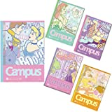 キャンパスノート ディズニー プリンセス 【コミックアート】 ドット入A罫5冊パック S2624150