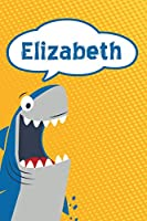 """Elizabeth: Personalized Shark Isometric DOT Paper notebook for Kids  120 pages 6""""x9"""""""