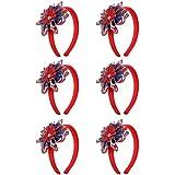 独立記念日パーティーヘッドバンド – 愛国的なパーティーハット 独立記念日のお祝いに最適 USAデザインヘアバンド (6個パック)