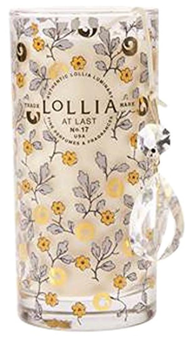 ユーモラス作動する現在ロリア(LoLLIA) プティパフュームドルミナリー290g AtLast(チャーム付キャンドル ライスフラワー、マグノリアとミモザの柔らかな花々の香り)