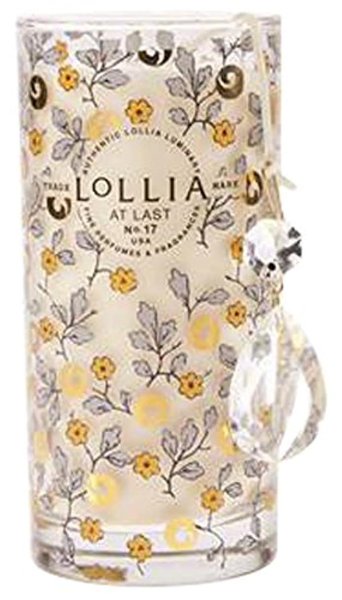 クレデンシャルお別れすなわちロリア(LoLLIA) プティパフュームドルミナリー290g AtLast(チャーム付キャンドル ライスフラワー、マグノリアとミモザの柔らかな花々の香り)