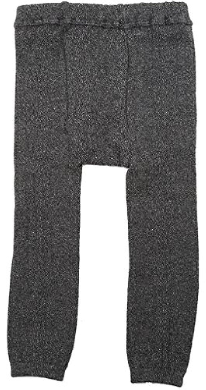 アンナニコラ ミックス杢リブ編み風スパッツ 105cm ダークグレー 7062 日本製