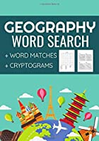 Geography Word Search: Challenging Workbook  | Word Searches, Word Matches & Cryptograms | Gift for Summer & Vacations