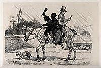 Edwin Henry Landseer ジクレープリント アート紙 アートワーク 画像 ポスター 複製(2人の若い煙突が庭で荒廃した馬を一掃する) #XZZ