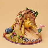 エネスコ Enesco ディズニートラディション Jim Shore ジム・ショア 木彫り調フィギュア4016587 くまのプーさんとピグレット「並行輸入品」