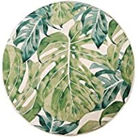リネン布団 厚い丸いバルコニーのウィンドウの窓の畳のクッションリムーバブルと洗える,A(b),50x50cm / 8cm