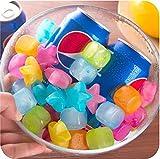 40個セットアイスキューブ 溶けない氷 繰り返し使用可能 飲み物が薄まりません カラフル 永久氷 持ち運び 携帯便利