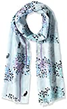 (ミックス ファクトリー)Mix Factory 洗濯機で洗える 綿ストール ラブキャッツフラワー 24-302-71601 71-00 サックスブルー 35*160cm