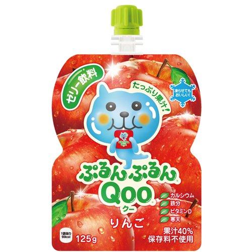 ミニッツメイド Qoo(クー) ぷるんぷるんQoo りんご味 125g×6本 パウチ