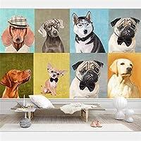 KAHSFA 3Dの壁紙3D壁紙壁画カスタム家の装飾ヨーロッパとアメリカの手描きの油絵子犬ペットショップ壁画