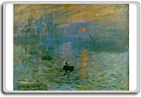 Claude Monet - Impression, Soleil Levant | Impression, Sunrise (1873) classic art fridge magnet - 蜀キ阡オ蠎ォ逕ィ繝槭げ繝阪ャ繝