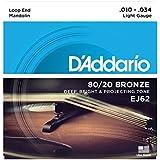 D'Addario ダダリオ マンドリン弦 80/20ブロンズ Light .010-.034 EJ62 【国内正規品】