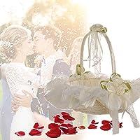バスケット 結婚式 かご 収納バスケット ホワイト エレガント お祝い 式場
