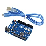 KKHMF Leonardo R3 開発ボードPro ATmega32U4 Micro USB Arduinoと互換 ケーブル付き