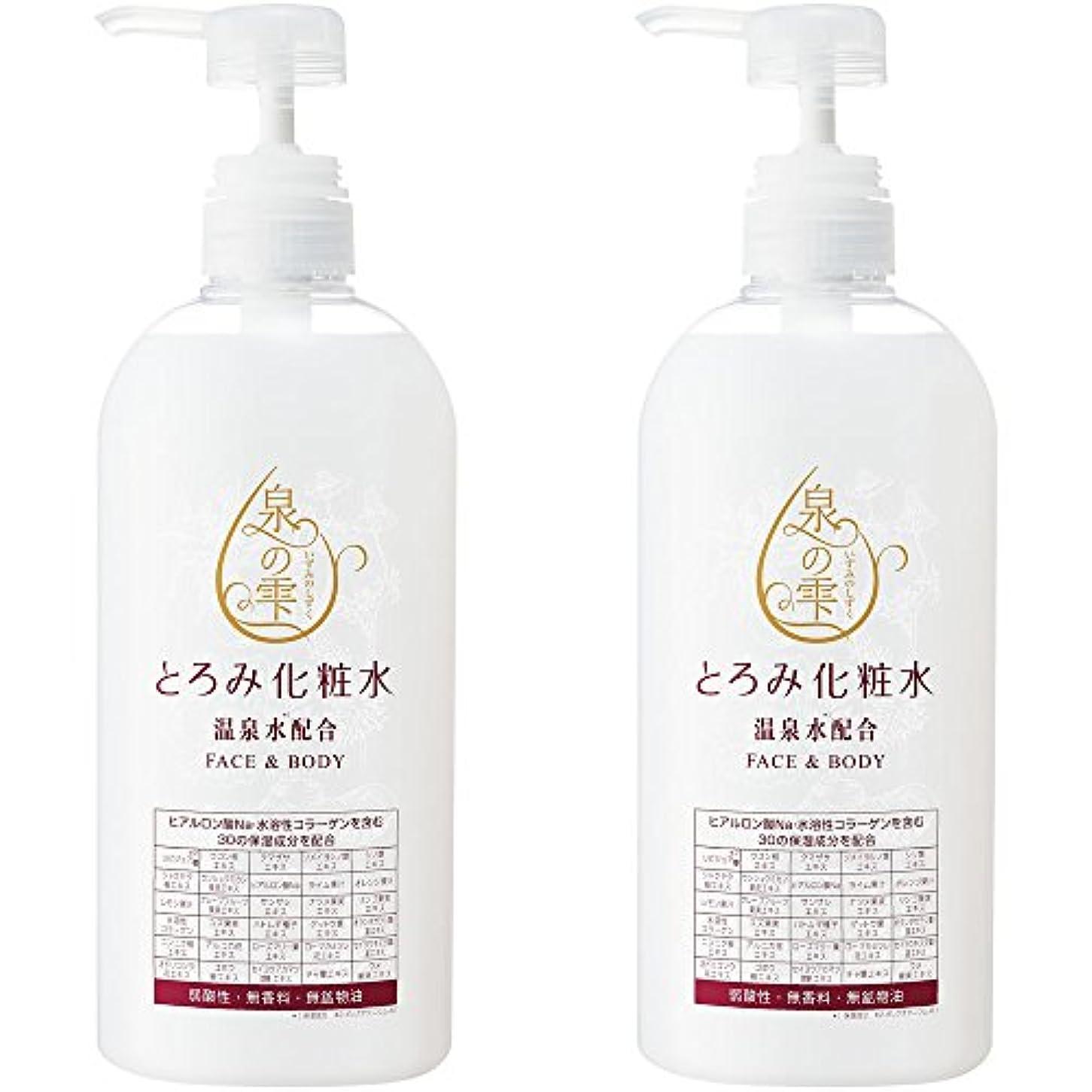 泉の雫 とろみ化粧水 (700ml×2本セット) [顔や身体にたっぷり使える大容量] 弱酸性?無香料?無鉱物油