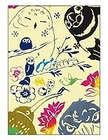 [江戸てん]手ぬぐい 注染 梨園染 綿100% 日本製 いろとりどり干支手ぬぐい
