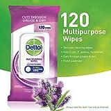 Dettol Multipurpose Wipes, Fresh Lavender, Pack of 120