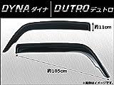 AP サイドバイザー AP-SVTH-T26-1 入数:1セット(2枚) トヨタ ダイナ U300-U400シリーズ/日野 デュトロ BU306 2007年~