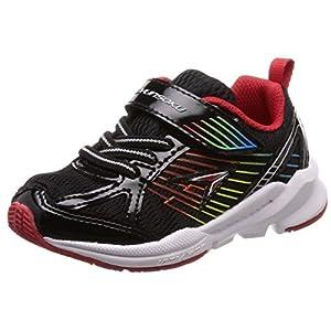 [シュンソク] 運動靴 通学履き 瞬足 幅広 衝撃吸収 高反発 15~23cm キッズ 男の子 SJC 5110 ブラック 19.5 cm 3E