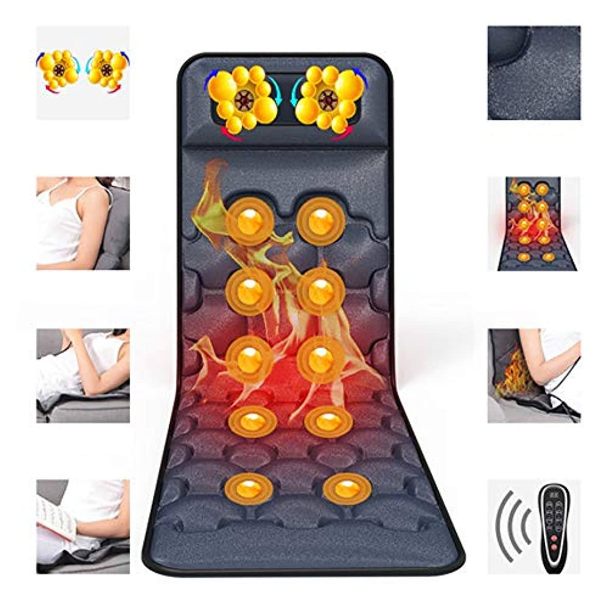 ジョットディボンドンドラムストレスの多いアッパー/腰腰下肢の痛みを軽減するピンポイントマッサージ用パッドのマッサージマットマットレス多機能暖房セラピーマッサージマッサージフルボディ、