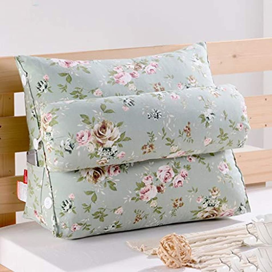 試す示す生き残り31-luoshangqing 多機能三角ベッド枕キャンバス大型クッション調整枕クッション (Color : G, サイズ : 60*50*22cm)