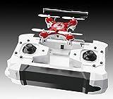 FQ777 Pocket drone ラジコンヘリコプター ヘッドレスモード搭載 ミニクワッドコプター ミニマルチコプター ドローン リモート360°飛行 (ホワイト)