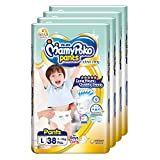 MamyPoko Extra Dry Pants, L, 38 Count, (Pack of 4)