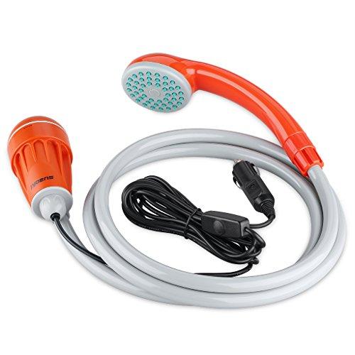 suaoki ポータブルシャワー アウトドアシャワー 12V専用 軽量 コンパクト 簡易 携帯便利 海水浴 洗車 キャンプ レジャー 災害など多用途に