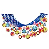 夏祭り装飾 お祭り花火ちょうちんプリーツハンガー L180cm/ 装飾 飾り ディスプレイ  22291