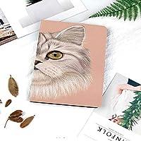 iPad air1 air2 new ipad 2018 2017 ケース 手帳型 9.7インチ兼用 iPad 5 208 カバー スリープ スタンド注文したウィッシャーズシャム文字の毛皮のような動物のペンキと国内ペルシャ猫の肖像画
