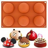 半球ドーム金型大キャビティ半球ベーキングチョコレートプディングケーキアイスクリーム金型ペストリーを作る金型パントレイBakeware 6穴