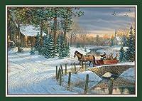 "Lang ""Holiday Sleigh Ride"" Photo Box Christmas Cards"