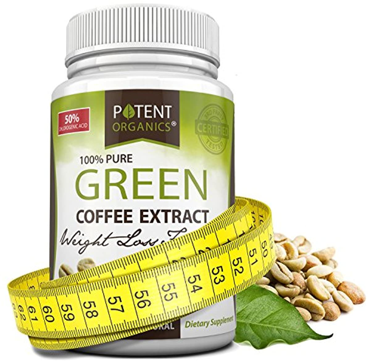 全体にジュース地上のPure Green Coffee Extract in 60 Capsules