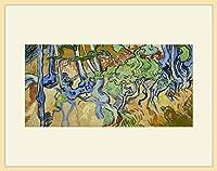 ゴッホ・[Vincent van Gogh] プリキャンバス複製画・ 額付き(デッサン額/大衣サイズ/木地色)