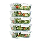 Fit & Fresh Glass Storage Containers, Clear, 35 oz, (873GFF)