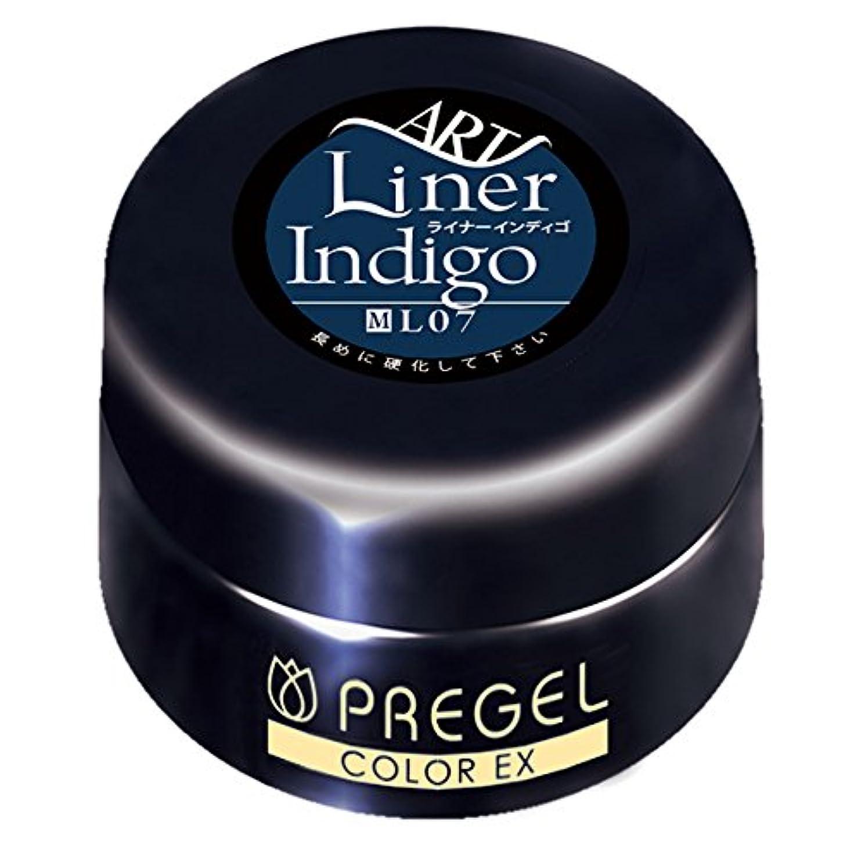 良性酸度干渉するプリジェル ジェルネイル スーパーカラーEX ライナーインディゴ07