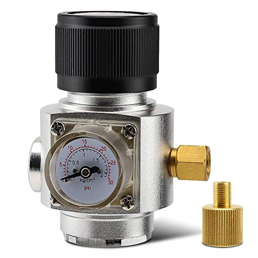 聴覚熱望するミネラルMini co2ガスRegular 0 – 30psi Keg充電器with 3 / 8」、5 / 8