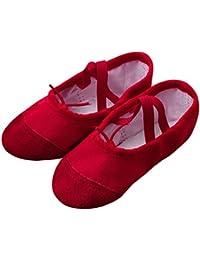バレエシューズ バレエ用品 バレエ靴 キャンバス製 トウシューズ 布製 スプリットソール 子供 大人 初心者 練習用 Regoss (レジス) 子供靴