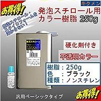 キクメン FRP発泡スチロール用カラー樹脂250g【黒】硬化剤付き 汎用ベーシック