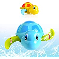 Essential Random Color New Born Babies Swim Turtle Wound-Up Chain Small Animal Baby Children Bath Toy Classic Toys^. by hpal-toys-baby-bathtub