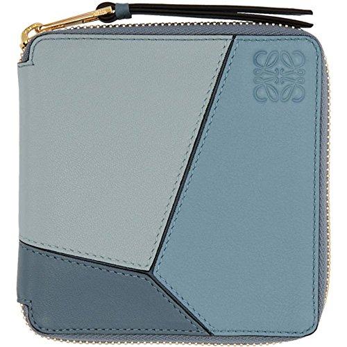 (ロエベ) Loewe レディース 財布 Blue Small Puzzle Zip Around Wallet [並行輸入品]