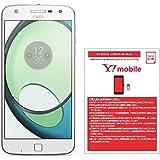 モトローラ スマートフォン Moto Z Play 32GB ホワイト国内正規代理店 AP3787AD1J4 & ワイモバイル(Y!mobile) ナノSIM スターターキット